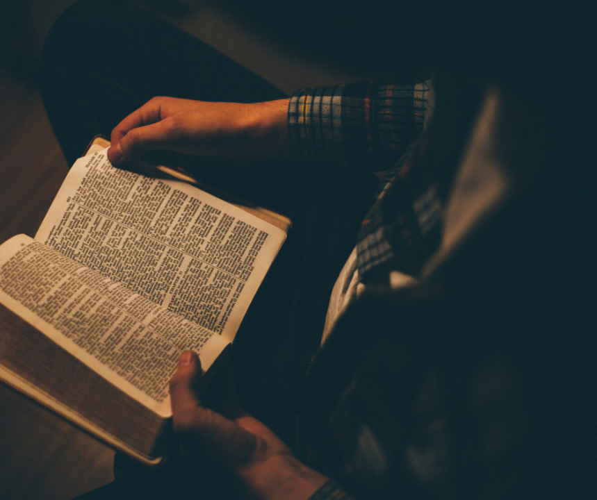 Reading Scripture at Night by Sarah Mozingo