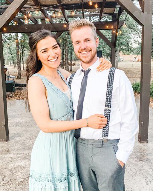 Kristine morris and boyfriend, standing